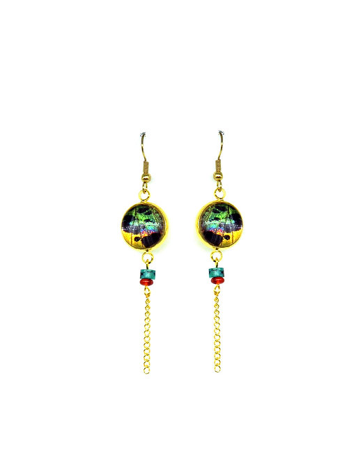 Boucles d'oreille Amitola Orange sunset