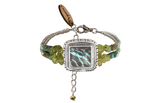 Bracelet carré Green Sunset