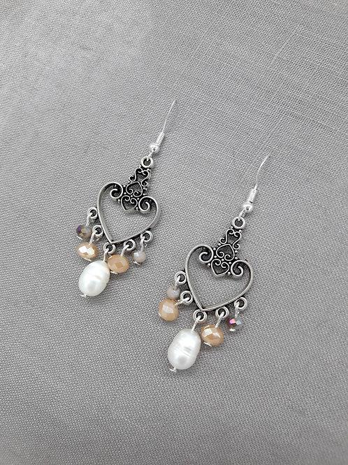 Boucles Coeur Perle
