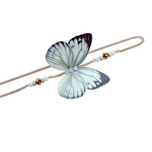 Headband papillon Nerissa Blanc