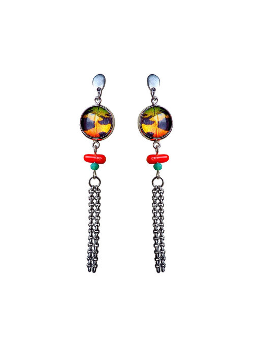 Boucles d'oreille JIAO Orange Sunset