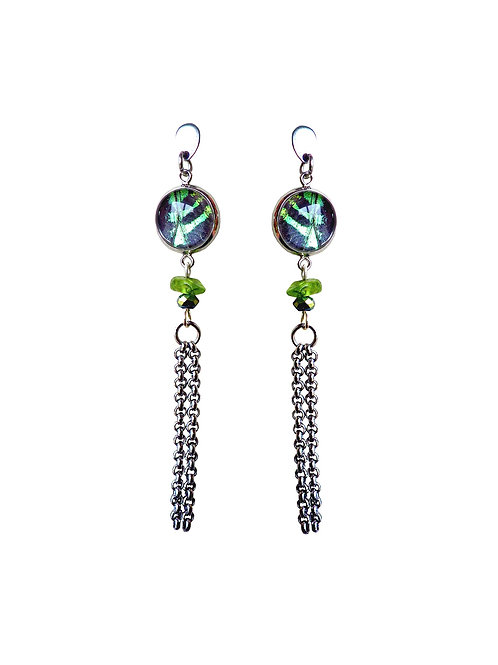 Boucles d'oreille JIAO Green sunset