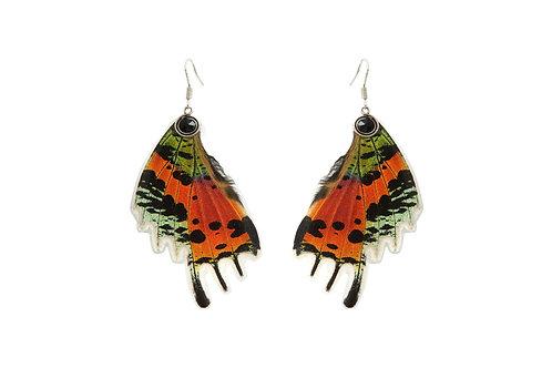 Boucles d'oreille Sunset Moth orange