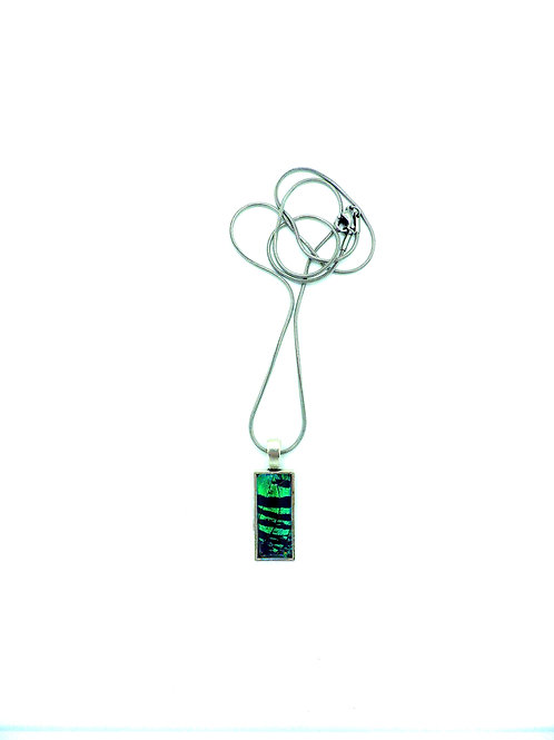 Pendentif rectangle simple Green Sunset