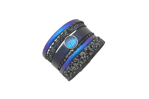 Manchette cuir Blue Morpho