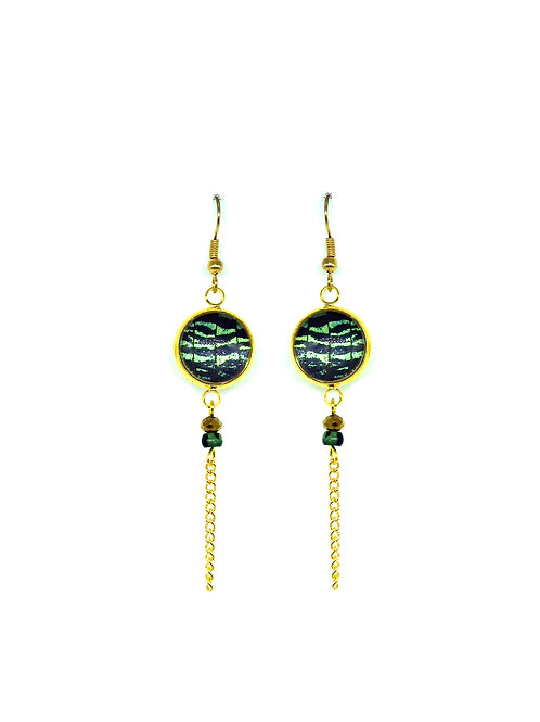 Boucles d'oreille Amitola Green sunset