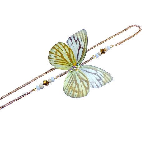 Headband papillon Nerissa Jaune