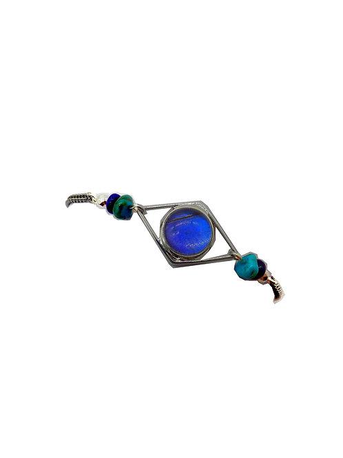 """Bracelet """"Losange"""" Blue morpho"""