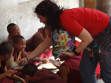 Návštěva dětí z kláštera