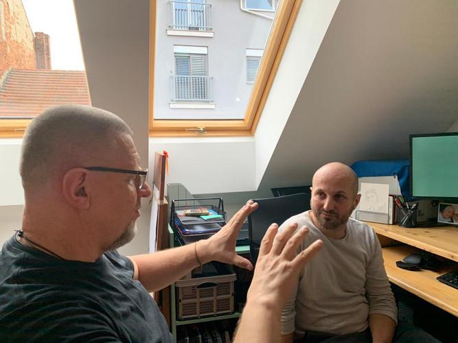 Petr Hodan a Leo Grzyb - plánování projektu