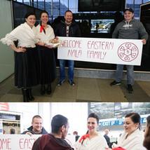 přivítání na letišti Václava Havla