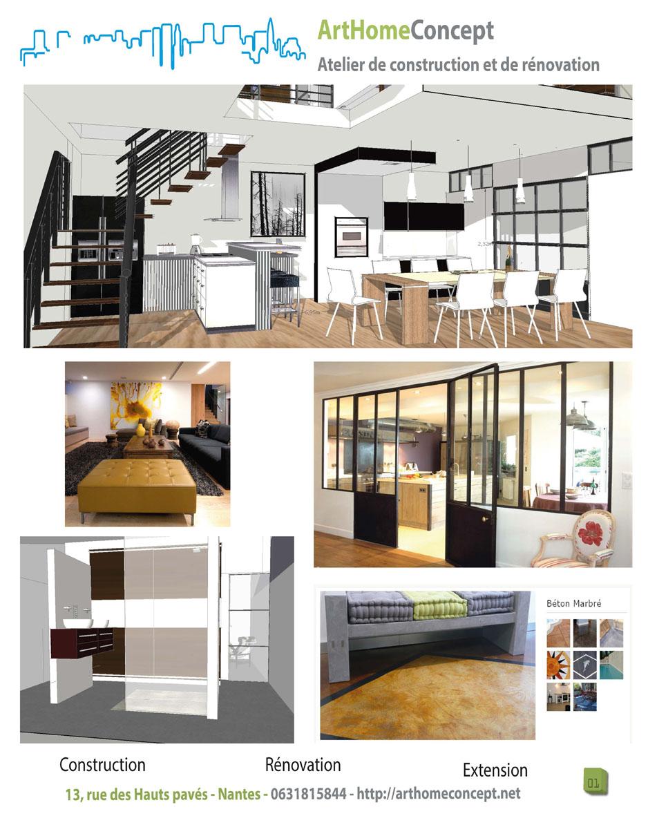 arthomeconcept maitre d 39 oeuvre nantes r novation d. Black Bedroom Furniture Sets. Home Design Ideas