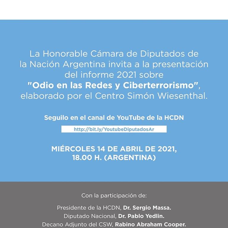 Presentación del Informe Anual de Odio en las Redes y Ciberterrorismo.