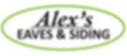 Alex's Eaves & Siding Business Logo