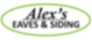 Alex's Eaves & Siding Business Logo