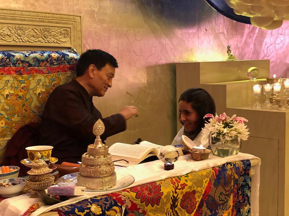 Bendición de Tenzin Wangyal Rinpoche