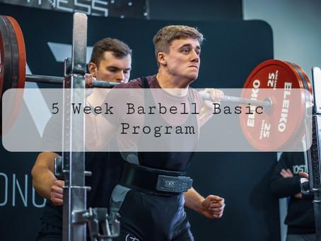 Free 5 Week Barbell Basics Program