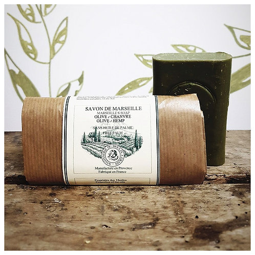 Savon du moulin à grain Olive / Chanvre