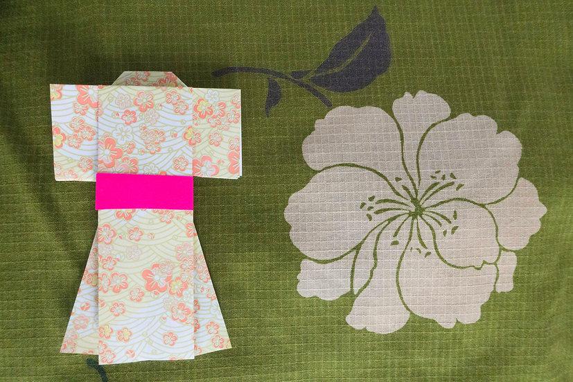 Bata hecha con Kimono a medida Tela 5