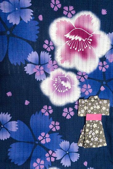 Bata hecha con Kimono a medida Tela 4