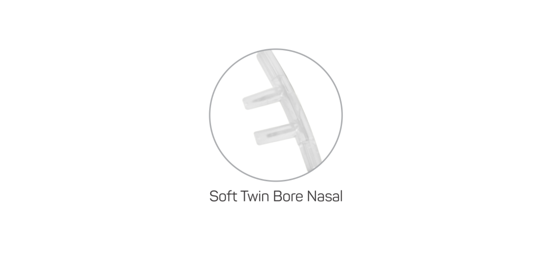 Soft Twin bore nasal piece
