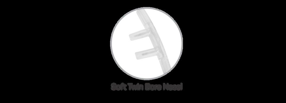Soft Twin bore nasal piece
