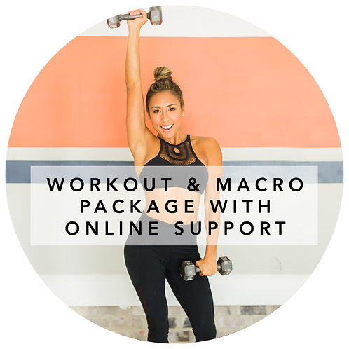 WORKOUT AND MACRO PACKAGE WITH ONLINE SUPPORT (NEW USERS)