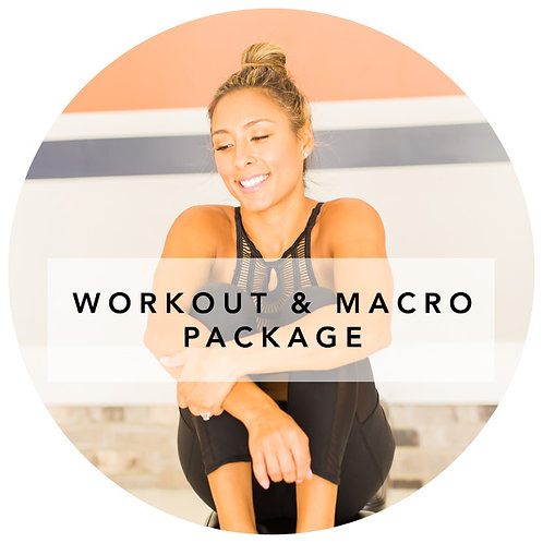 WORKOUT AND MACRO PACKAGE (NEW USERS)