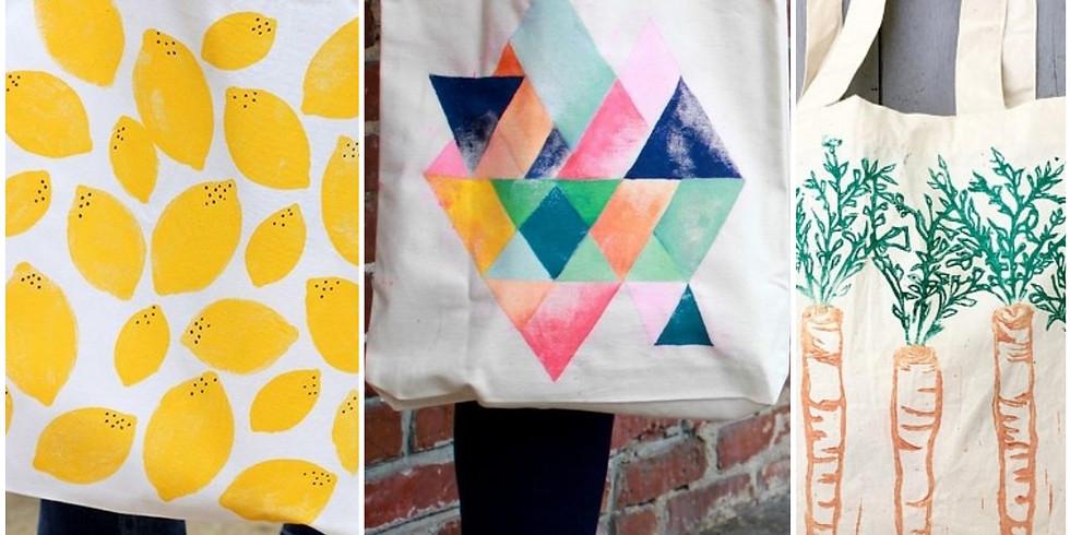 Block Printing Tote Bag!