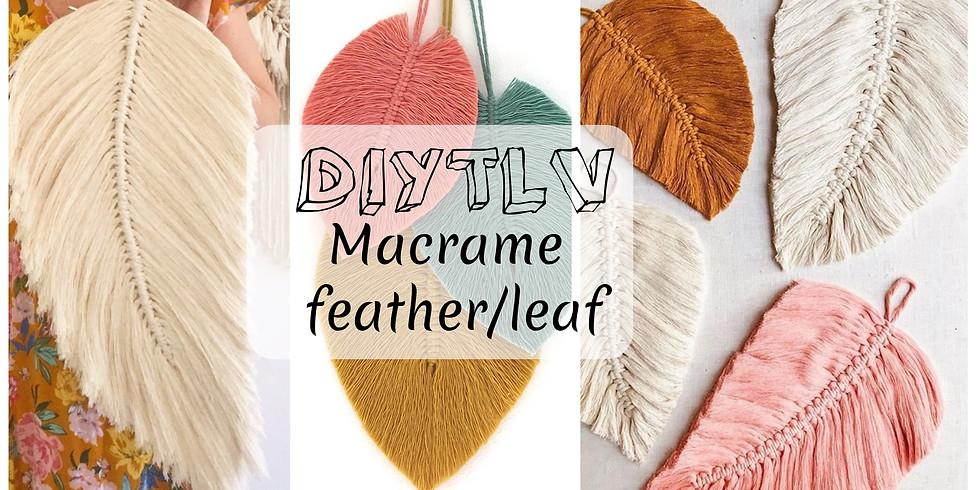 DIYTLV Macrame feather/leaf