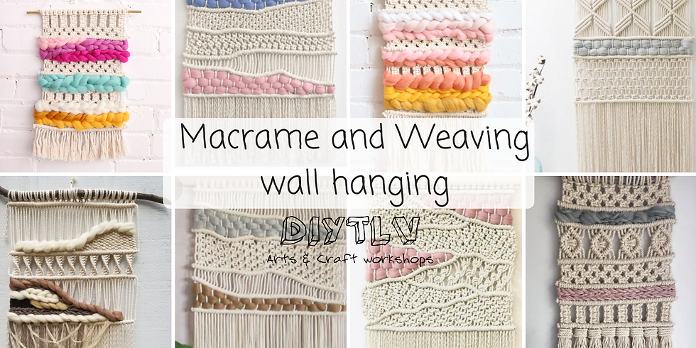 Macrame weaving wall hanging
