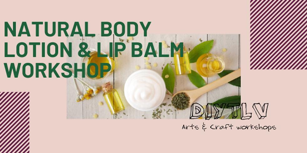 diytlv natural body lotion and lip balm