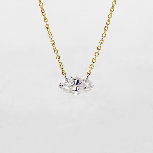 Drilled Marquise Diamond Necklace