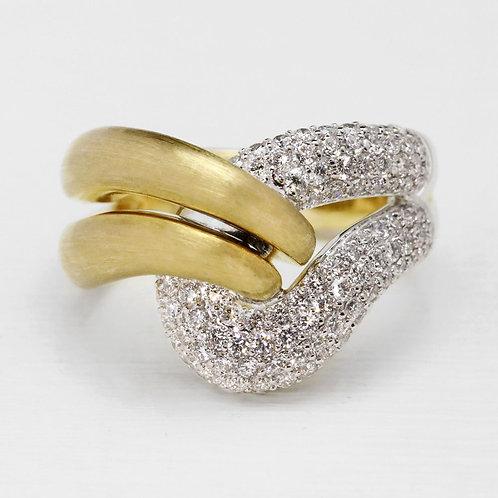Pavé Satin Ribbon Ring