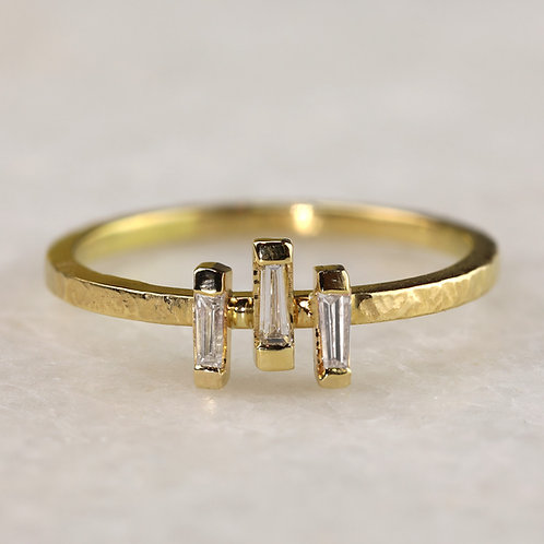 Triple Baguette Ring