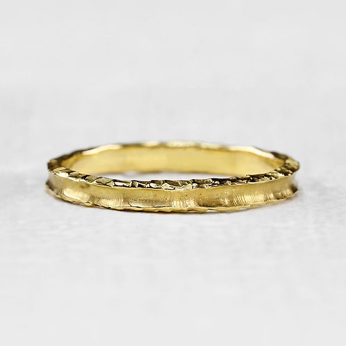 Yellow Heavy Textured Ring