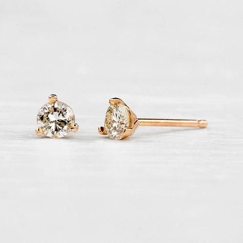 Round .36tcw Diamond Stud Earrings