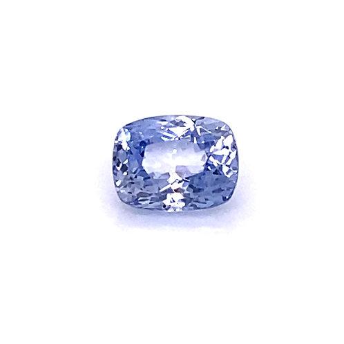 Steel Blue Gray Cushion Cut Sapphire