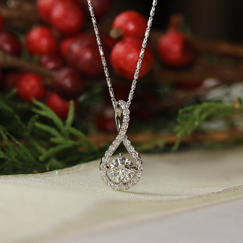 Continuous Diamond Pendant