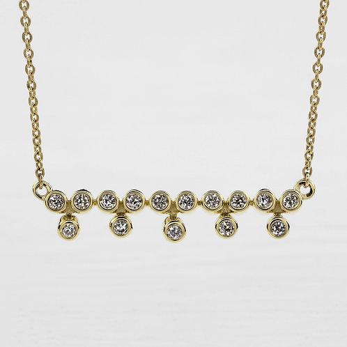 Bezel Row Necklace