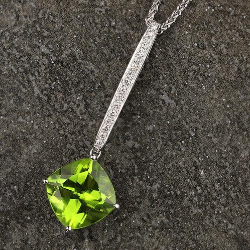 Diamond & Peridot Pendant