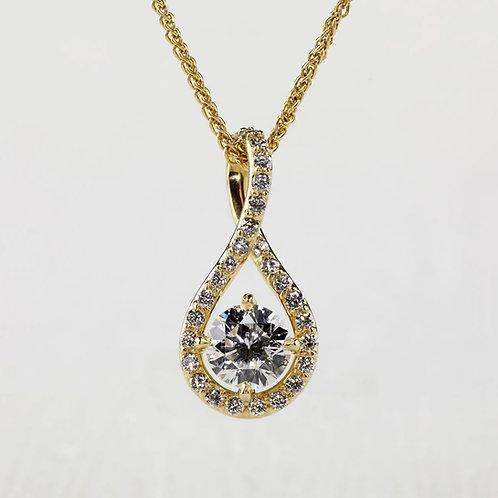 Continuous Diamond Pendant