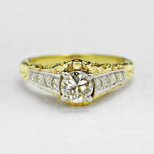 Two-Tone Antique Style Ring