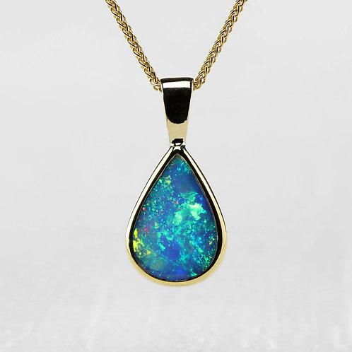 Small-Pear Shaped Opal Pendant