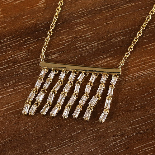 Dangling Baguette Necklace