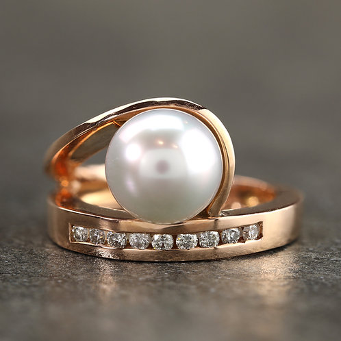 Flowing South Sea Pearl Ring