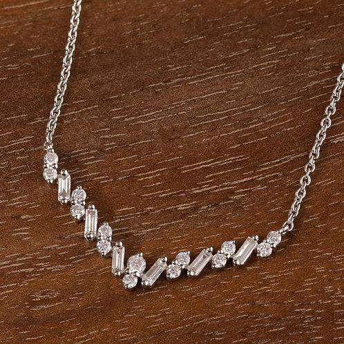 Baguette Chevron Necklace