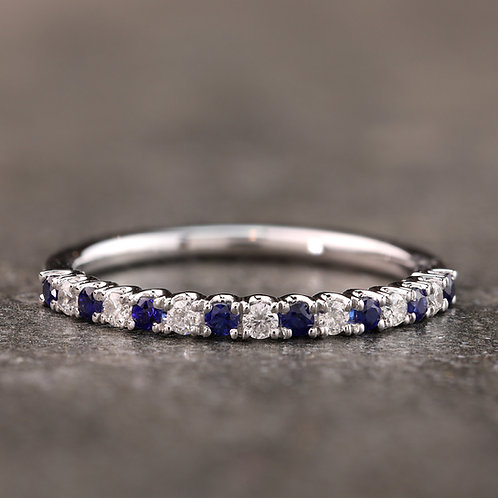 Sapphire Accented Band