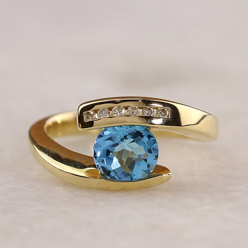 Blue Topaz Bypass Ring