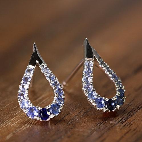 Sapphire Ombre Earrings
